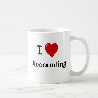 Caneca De Café Eu amo explicar - contabilidade do coração de I