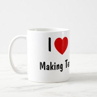 Caneca De Café Eu amo fazer o chá