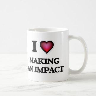 Caneca De Café Eu amo fazer um impacto