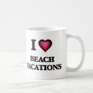 Caneca De Café Eu amo férias da praia