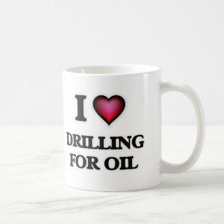 Caneca De Café Eu amo furar para o óleo