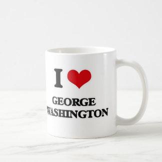 Caneca De Café Eu amo George Washington