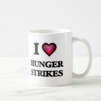 Caneca De Café Eu amo greves da fome