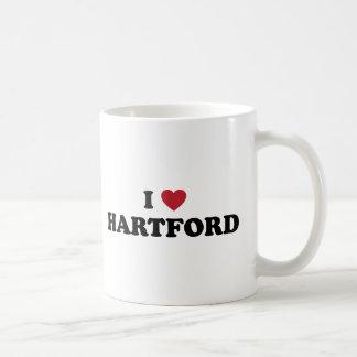 Caneca De Café Eu amo Hartford Connecticut