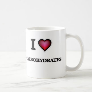 Caneca De Café Eu amo hidratos de carbono