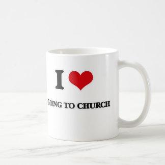 Caneca De Café Eu amo ir à igreja