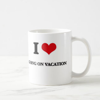 Caneca De Café Eu amo ir em férias
