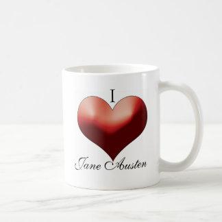 Caneca De Café Eu amo Jane Austen