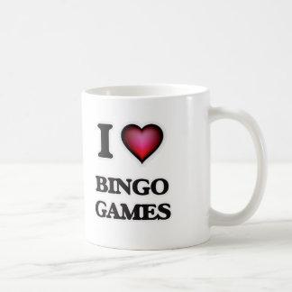 Caneca De Café Eu amo jogos do Bingo