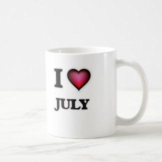 Caneca De Café Eu amo julho