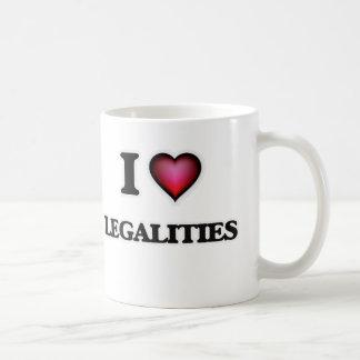 Caneca De Café Eu amo legalidades