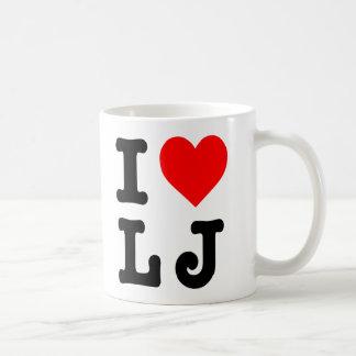 """Caneca De Café """"Eu amo LJ"""""""