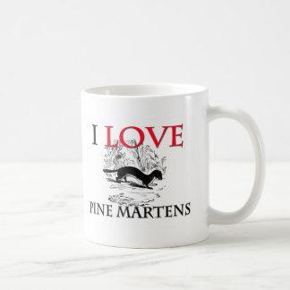Caneca De Café Eu amo Martens de pinho