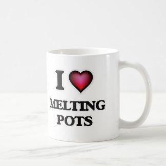 Caneca De Café Eu amo melting pot