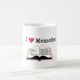 Caneca De Café Eu amo memórias