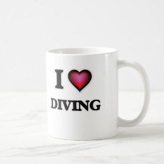 Caneca De Café Eu amo mergulhar