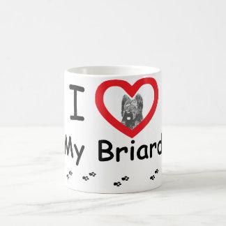 Caneca De Café Eu amo meu Briard