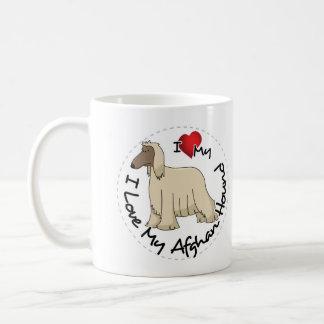 Caneca De Café Eu amo meu cão de galgo afegão