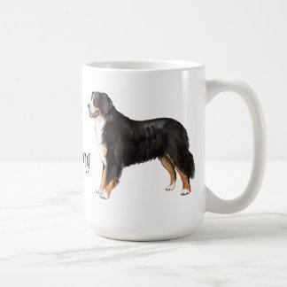 Caneca De Café Eu amo meu cão de montanha de Bernese
