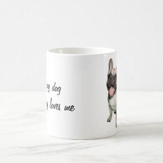 Caneca De Café Eu amo meu cão e meu cão ama-me