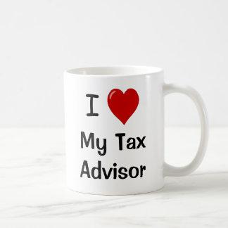 Caneca De Café Eu amo meu conselheiro de imposto/amo-me