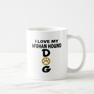 Caneca De Café Eu amo meu design do cão de galgo afegão