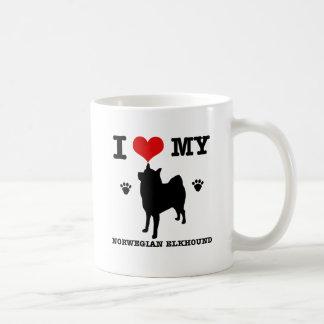 Caneca De Café Eu amo meu Elkhound norueguês
