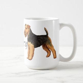 Caneca De Café Eu amo meu galês Terrier