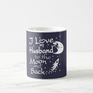 Caneca De Café Eu amo meu marido à lua e à parte traseira