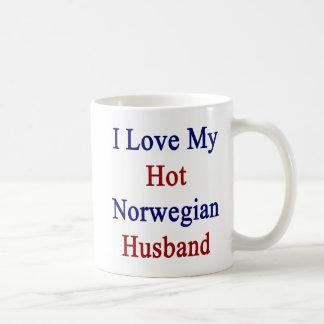 Caneca De Café Eu amo meu marido norueguês quente