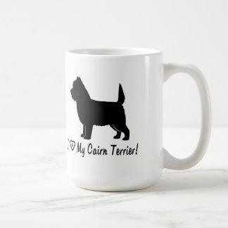Caneca De Café Eu amo meu monte de pedras Terrier!