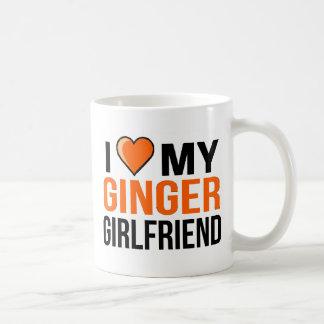 Caneca De Café Eu amo meu namorada do gengibre