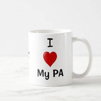 Caneca De Café Eu amo meu PA e meu PA ama-me!