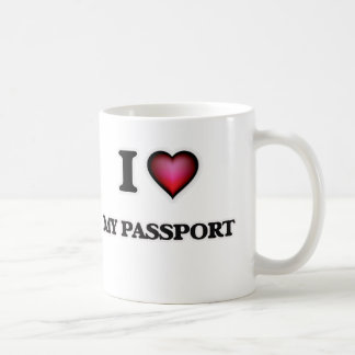 Caneca De Café Eu amo meu passaporte