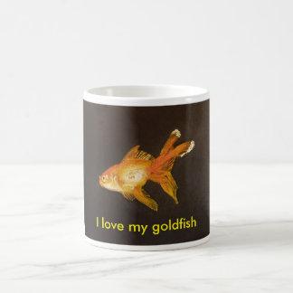 Caneca De Café Eu amo meu peixe dourado