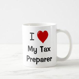 Caneca De Café Eu amo meu preparador de imposto/amo-me