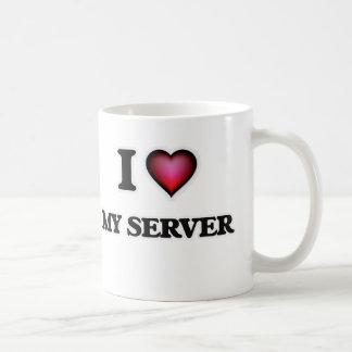 Caneca De Café Eu amo meu servidor