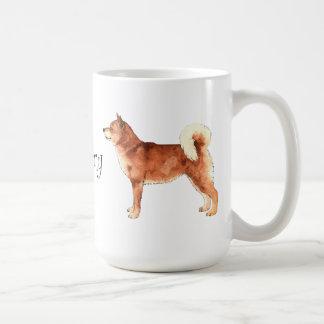Caneca De Café Eu amo meu Shiba Inu