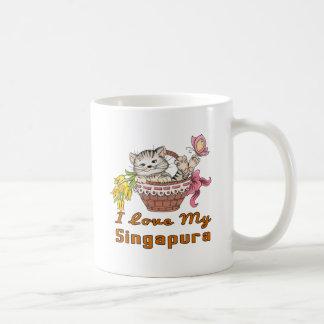 Caneca De Café Eu amo meu Singapura