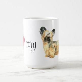 Caneca De Café Eu amo meu Skye Terrier