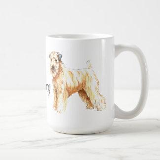 Caneca De Café Eu amo meu Terrier Wheaten revestido macio