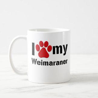 Caneca De Café Eu amo meu Weimaraner