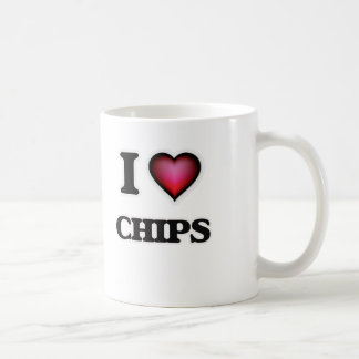 Caneca De Café Eu amo microplaquetas