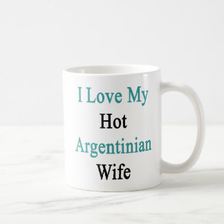 Caneca De Café Eu amo minha esposa argentina quente
