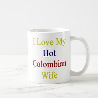 Caneca De Café Eu amo minha esposa colombiana quente