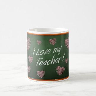 Caneca De Café Eu amo minha mensagem do quadro do professor