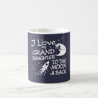 Caneca De Café Eu amo minha neta à lua e à parte traseira