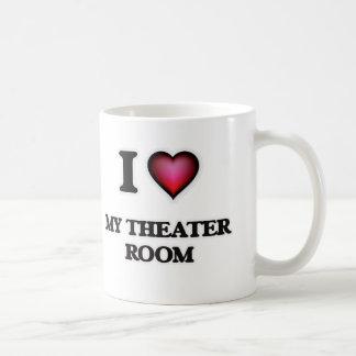 Caneca De Café Eu amo minha sala do teatro