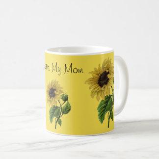 Caneca De Café Eu amo minhas das flores bonito da margarida da