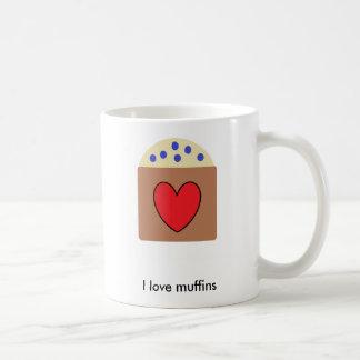 Caneca De Café Eu amo muffin